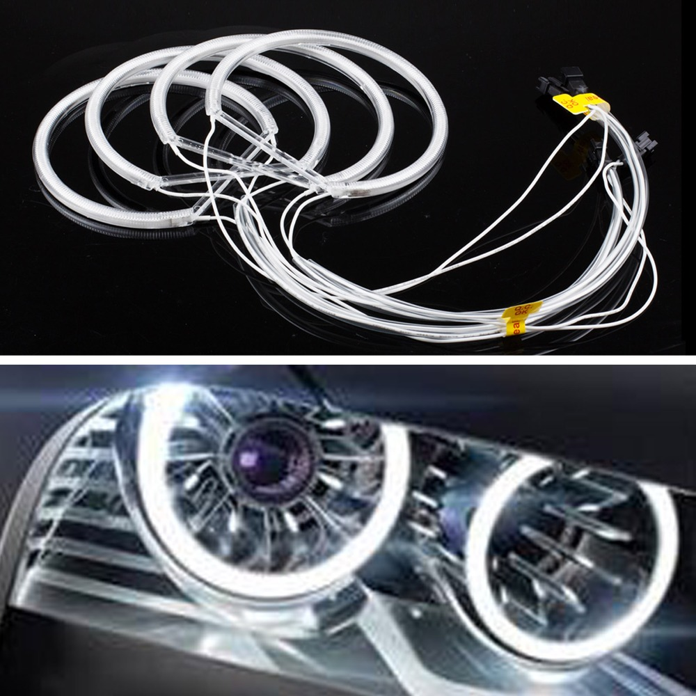 2016 New Car CCFL LED Angel Eye Light Cool White 6000K Super Bright Car Auto Headlight For BMW E46 E36 E39 E318A04(China (Mainland))