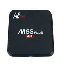 Buy ANEWKODI android tv box M8S PLUS m8s+ Quad-Core Smart TV Amlogic S905 KD 16.0 4K 2G/16G WIFI Full HD Android 5.1 Media Player for $45.00 in AliExpress store