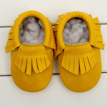 New 29 colors fringe bow Genuine Leather Baby Moccasins soft Baby Shoes First Walker Chaussure Bebe newborn shoes freeshipping(China (Mainland))