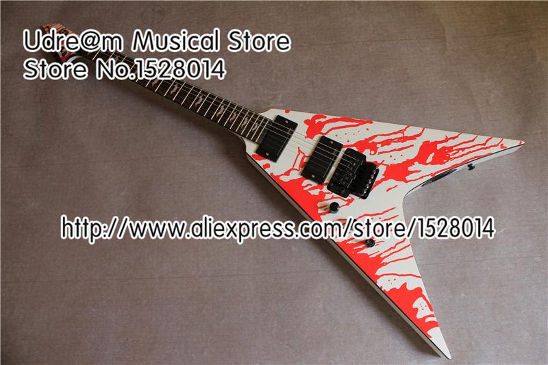 ESP Custom Shop Left Handed LTD Electric Guitar Blood Tear Finish Custom Guitarra Free Shipping(China (Mainland))