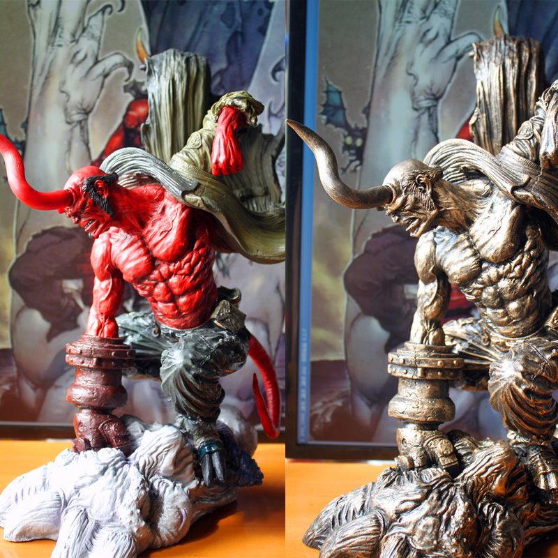 New Resin Materials HELLBOY Statue Finish Painting H 36CM, Two Color Optional<br><br>Aliexpress