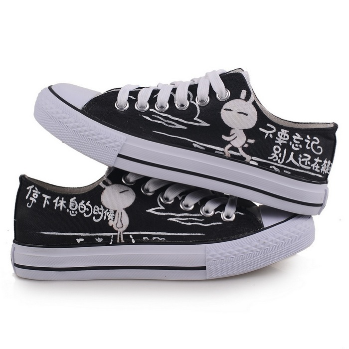 hand-painted sport shoes canvas couple shose woman hand painted shoe women men casul sneakersD-B1087 - High fashion street store