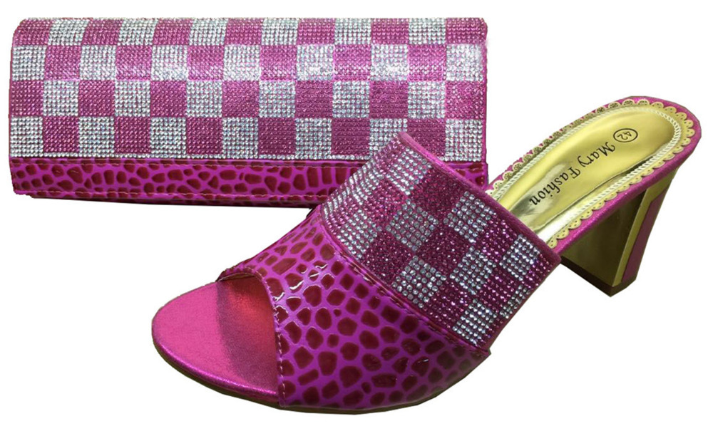 Фотография MF 01 Fuchsia+pink,Matching shoes and bag for size 38-42 High quality material for Free shipping by DHL.