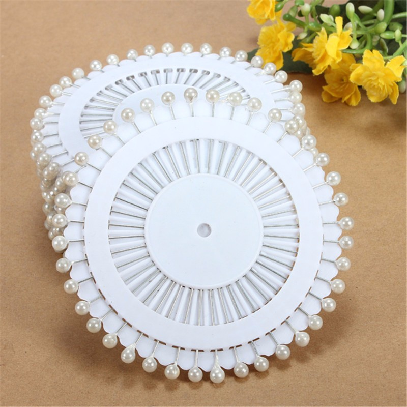 Modern 480Pcs White Round Head Dressmaking Pearl Decorating Sewing Pin Craft For Home Garden DIY Crafts Tool Accessories 35mm(China (Mainland))