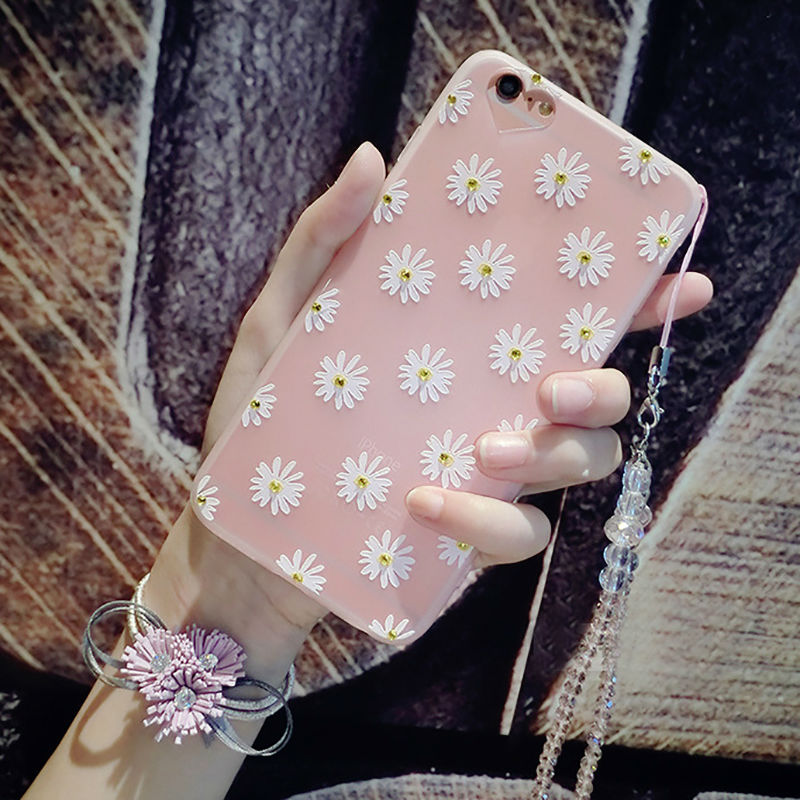 Luxury Plating Flower Soft TPU Bling Diamond Case For iPhone 7 7 Plus Girl Women Case Clear Crystal Gel Shining Phone Bags Cases(China (Mainland))