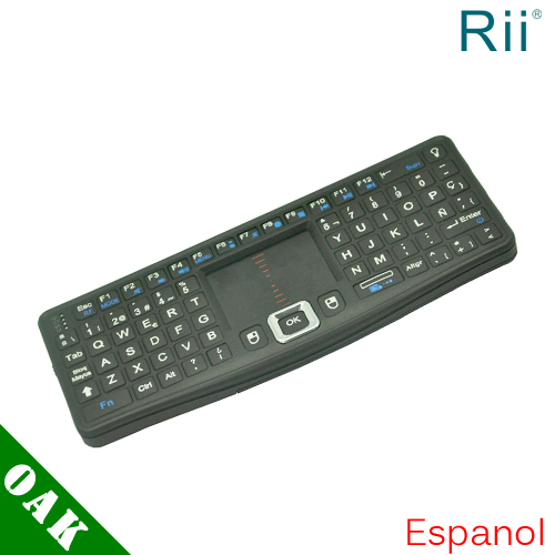 Free DHL - Genuine Rii RT-MWK03 Spanish/English 2.4G Wireless Keyboard with Touchpad for Android TV Box - 100pcs(China (Mainland))
