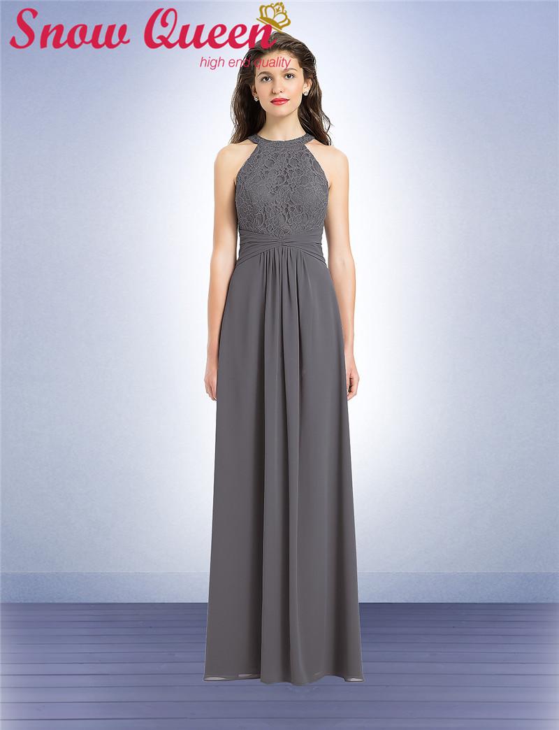 Popular grey chiffon halter neck dress buy cheap grey for Grey wedding guest dress