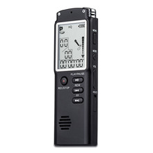 Free Shipping Professional 8GB Time Display Recording Digital Audio Voice Recorder Dictaphone with MP3 Player Grabadora De Voz