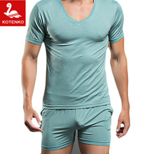 Men T Shirt Cotton Pajama Set Sleepwear Sexy Mens Underwear Tees Undershirts Tshirts Brand  Casual Short Sleeve Boxers(China (Mainland))