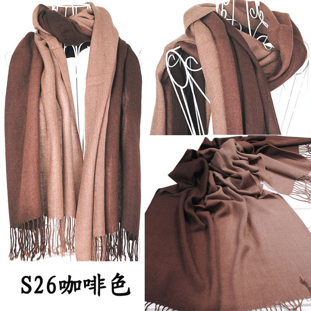 2015 Imixbox Brand New Women's Fashion Long large Soft Shawl Stole Cashmere Scarf Gradient scarf wraps W4193