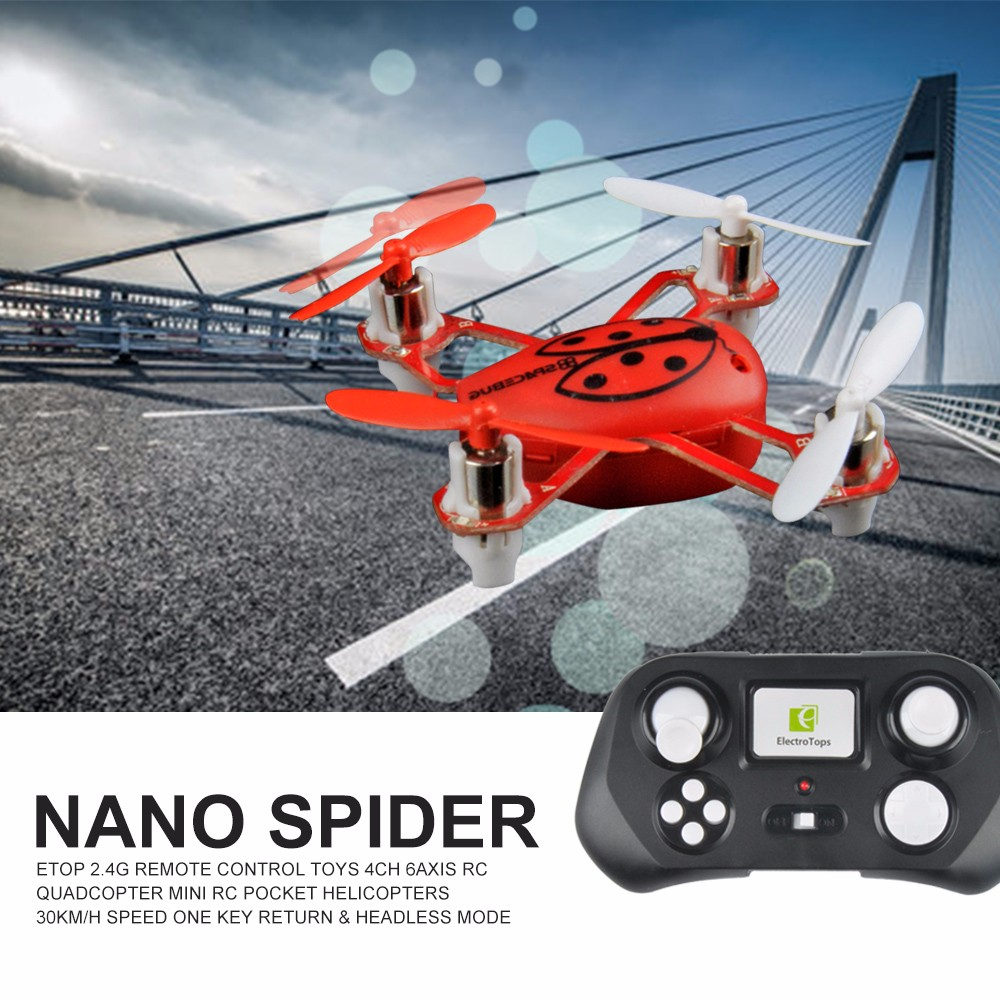 Mini Drone ET NONO 2.4G RC Toys 4CH 6Axis MiNi Quadcopter RC Pocket Helicopters High Speed Hobby Toys Kids Toys VS FQ777