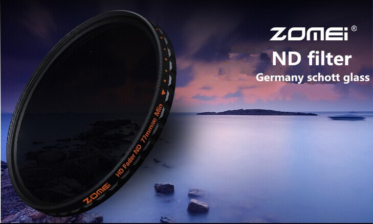 Top UHD Zomei Adjustable 52mm ND Filter ND2 - 400 Germany Schott Glass 18 Layer Coating Oil Soil + Clean Kit for Canon Camera(China (Mainland))