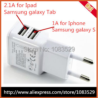 2 Dual USB Ports Wall Power Charger Adapters EU Plug samsung galaxy s6 Edge note 4 Iphone 4s 5 5s Ipad Adapter Nexus - HK Billy Technology Co.,Ltd store