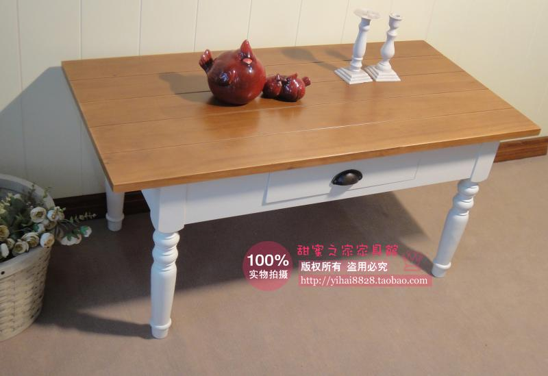 European white garden all solid wood coffee table living room coffee table face Specials(China (Mainland))