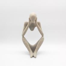 Decorative Figurines New Abstract Figure Thinker Sculpture Sandstone Crafts Sculpture Modern Art Home Decor(China (Mainland))