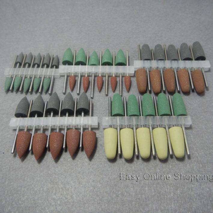 50pcs Multi-Color Dental SILICONE Polishers Resin Base Acrylic Polishing Burs New Dental lab burs(China (Mainland))