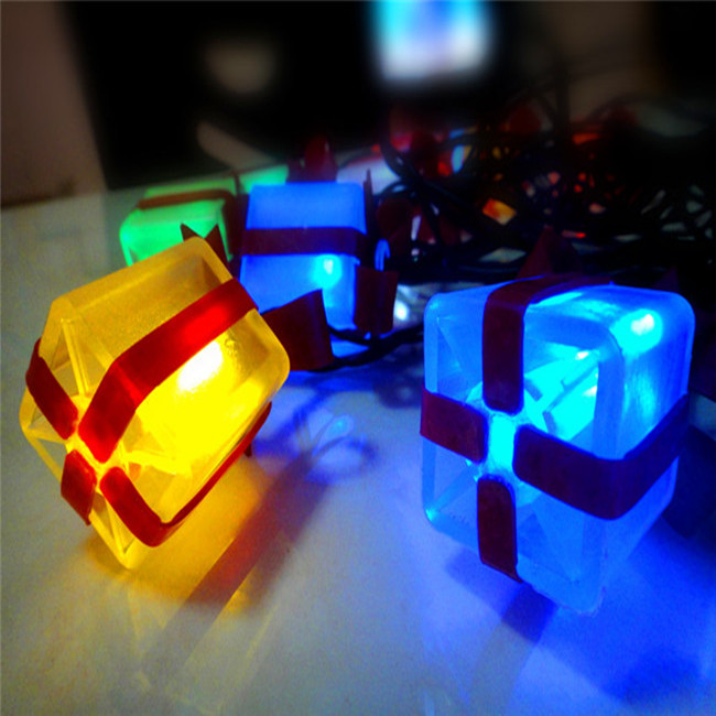 Hot Sale 10LED String Gift Box Light Christmas/Wedding/Party Decoration Lights Lighting(China (Mainland))