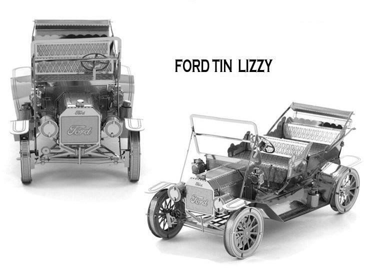 FORD TIN LIZZY CAR MODEL Building Kits 3D Scale Models DIY Metallic Nano Jigsaw Puzzle Toys for adult/kids, 1PC PRICE NO TOOL(China (Mainland))