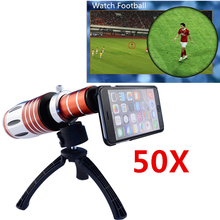 Buy APEXEL 1pc Super 50x HD Optical zoom Telescope lens iPhone 6 plus mobile phone telephoto lens w/ case tripod CL-48IP655 for $98.99 in AliExpress store