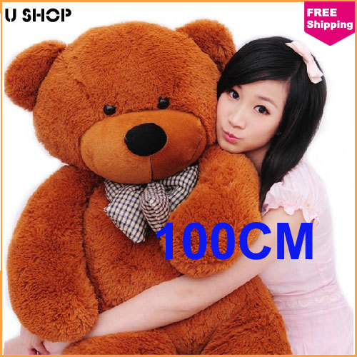 100cm brown life size doll plush large teddy bear for sale giant big soft toys teddy bears. Black Bedroom Furniture Sets. Home Design Ideas