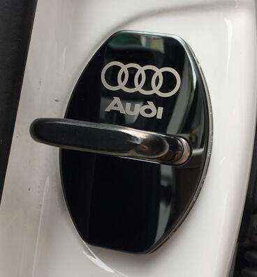 New Arrival Stainless Steel Door Lock Decoration Cover Door Lock Cover Sticker For A1 A4 A5 A7 A8 Q3 AUDI A3 Q5 Car Styling(China (Mainland))