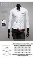 Мужская свадебная рубашка FFG Camisas FGG0010