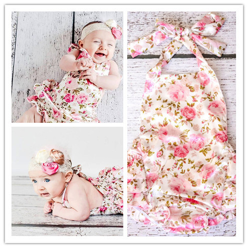 Free Shipping Posh Style Baby Girl Dress Pink Floral With Polka Dot Princess Dress Bubble Rompers Toddler Infant Girl Dress(China (Mainland))