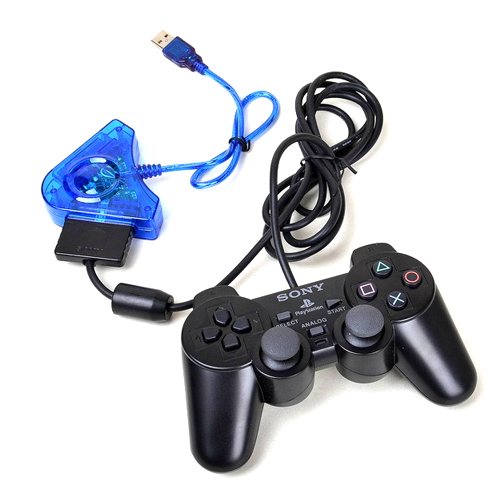 For PS I II 1 2 PS1 PS2 PSX Playstation 2 Joypad Game Controller to PC