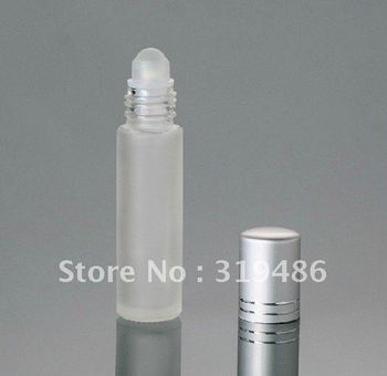 300pcs Free shipping capacity 10ml frosted glass roll on bottle,  essential oil parfum perfume fragrance bottle