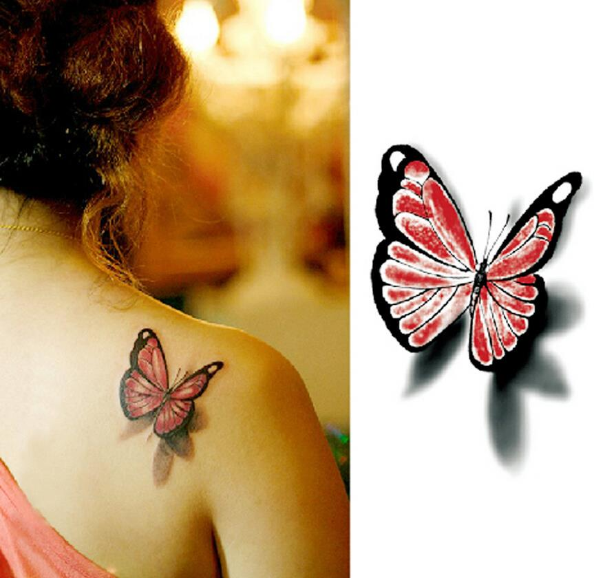 compare prices on temporary butterfly tattoo online shopping buy low price temporary butterfly. Black Bedroom Furniture Sets. Home Design Ideas