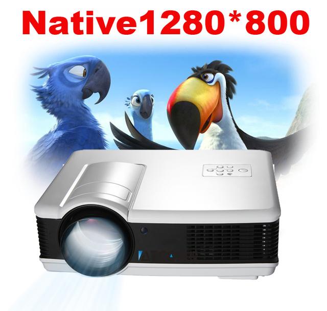 Freeshipping ! 3500Lumens Full HD 1080p LED home theater projector 3D Red/Blue support USB TV HDMI VGA AV