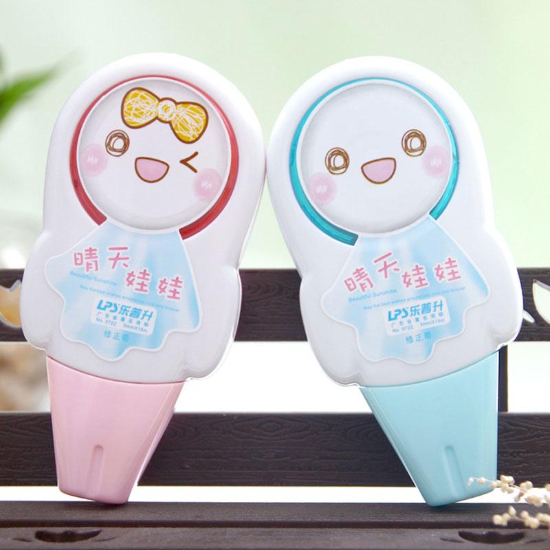 4 pcs/lot Kawaii Doll Correction Tape Set for Kids Material Escolar Korean Stationery Office School Supplies<br><br>Aliexpress