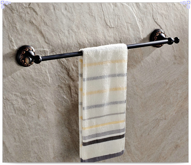 Oil Rubbed Bronze Single Towel Bar Wall Mounted Bathroom Towel Rack Sink Bath Room Gold