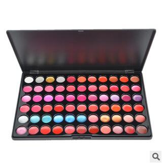 66 color lipstick tray / professional makeup artist recommended lipstick disk / moisturizing matte lipstick waterproof batom(China (Mainland))