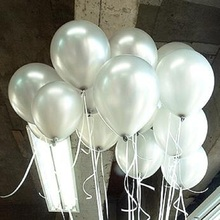 "Silver Latex Balloons 10"" 1.5g 100pcs/lot Helium Thickening Pearl Balloons Wedding Brithday Decorations balony globos Toys Gifts(China (Mainland))"