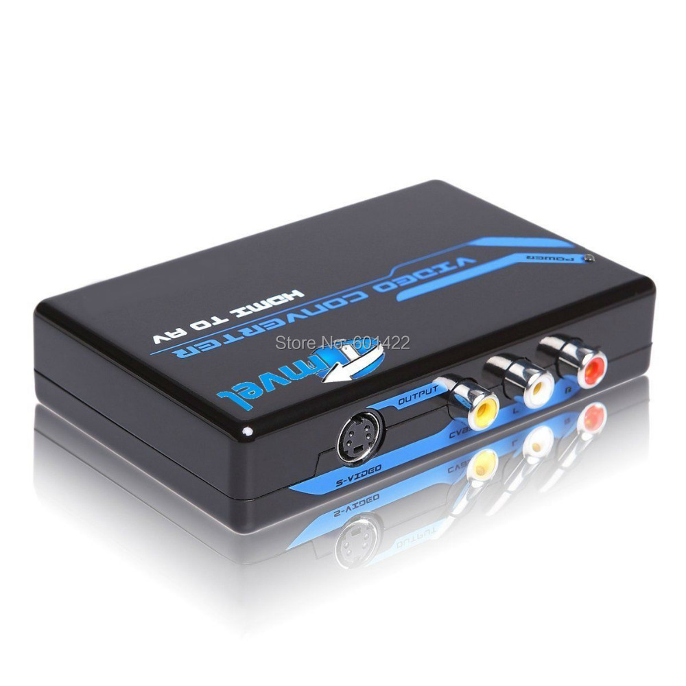 2PCS HDMI to S-Video Composite RCA Video + R/L Audio Converter Support 1080p HDMI to S-Video Converter<br><br>Aliexpress
