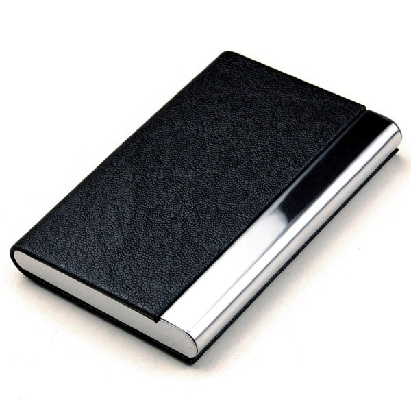 Brand New Leather Men Business Card Holder Case Card & ID