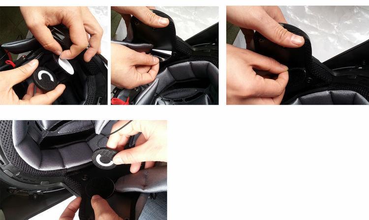 Купить Bluetooth Мотоциклетный Шлем Гарнитуры I-phone/MP3/Mp4/I-Pod BT Наушники TOM-02