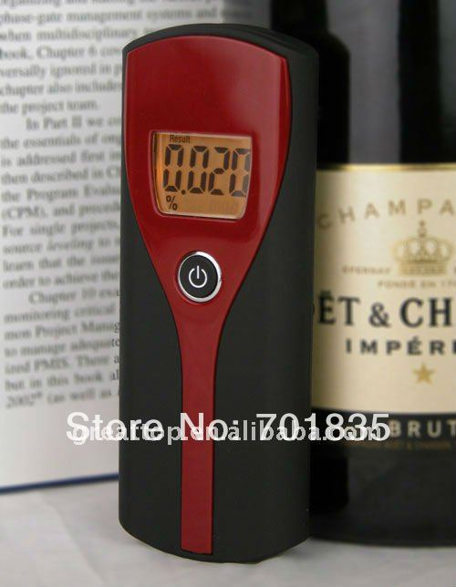 Free shipping ! Orange backlight Digital Breath Alcohol tester(China (Mainland))