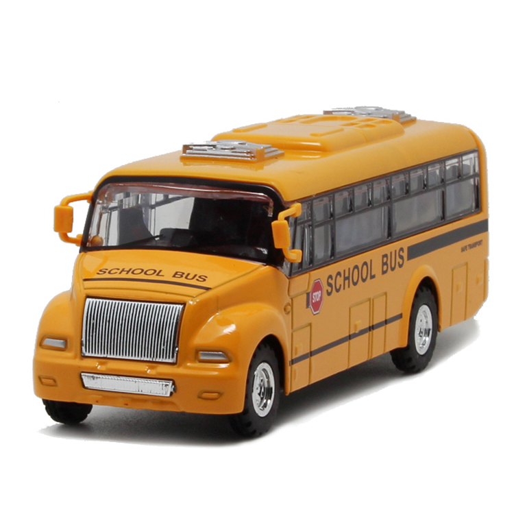Alloy Emulational Car Model Toys, Classic School Bus, Brinquedos Miniature Pull Back Cars,Doors Openable For Baby Toys(China (Mainland))