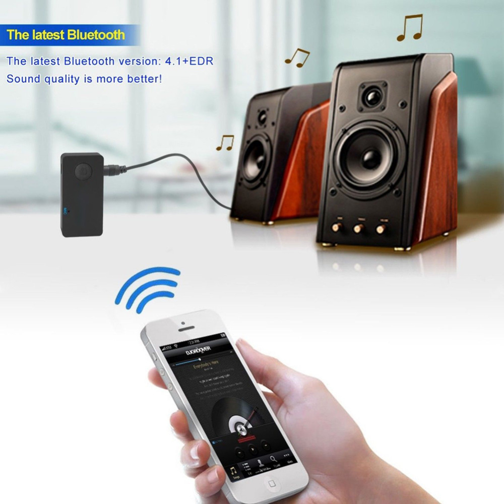 2016 Upgraded Version !! 4.1 Bluetooth Audio Receiver for Home Car Hands-free Bluetooth Wireless AUX Audio Stereo Music Adapter(China (Mainland))