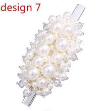 17KM 2019 Perle Haar Clips Für Frauen Mädchen Silber Bowknot Haarnadeln Set Mode Weibliche Haar Schmuck Korea Hochzeit Elegante geschenke(China)