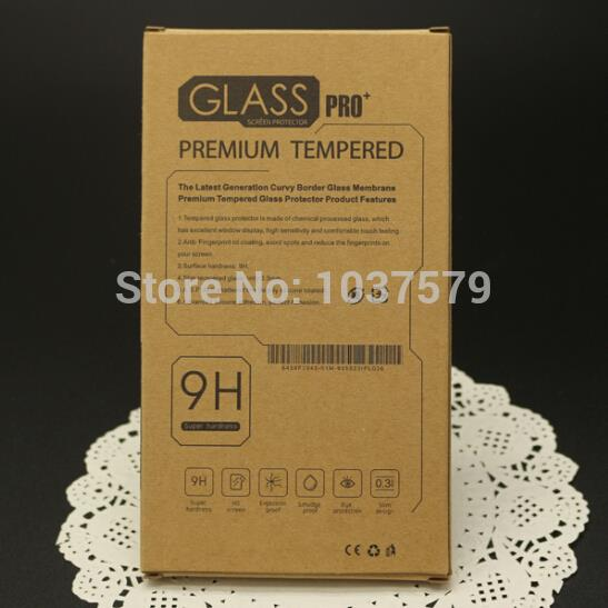 200Pcs/lot Kraft Paper Retail Package For Cell Phone Tempered Glass Screen Protector Packing Packaging Box Pack With Inner Tray(China (Mainland))