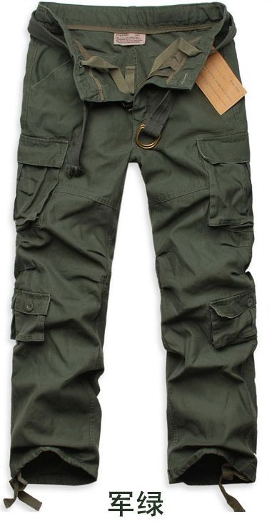 The Combat Pants for Men Cotton Cargo Trousers Loose Type The Army Military Uniform Pants for Men Camouflage Durable Workwear