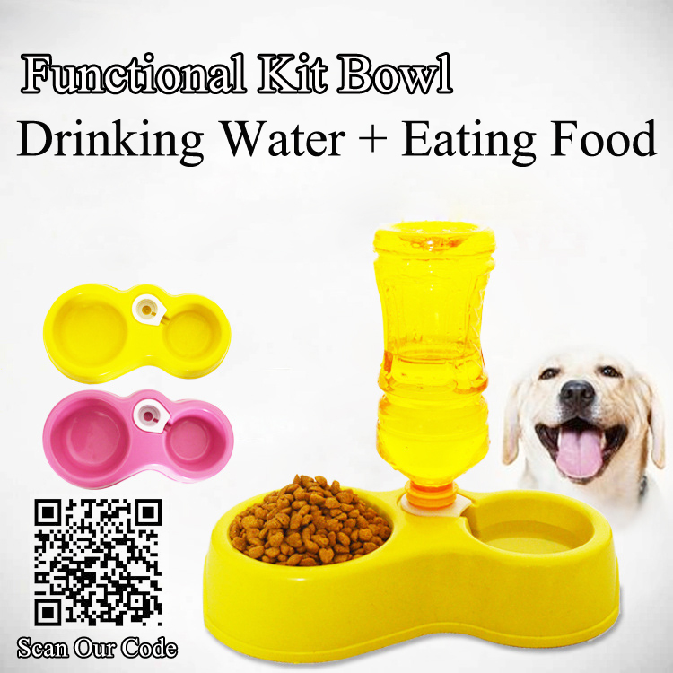 automatic water dog dish - Drinking & Eating bowl for pet, dog water dog food feeder, pet dog cat tray feeder(China (Mainland))