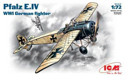 Out of print! Plastic model kit ICM 72121 Pfalz E.IV WWI German fighter 1/72(China (Mainland))