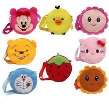 Free shipping 1pcs lovely cartoon pattern girl Plush single shoulder bag,flower&cat $bear