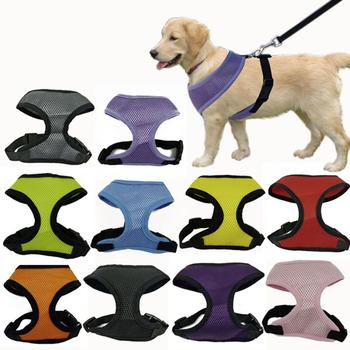 Fashion Dog Harness Soft Air Nylon Mesh Pet Harness Cheap Dog Cloth Pet Dog Cat Vest Harness Dog Apparel Small 10 Colors 5 Size