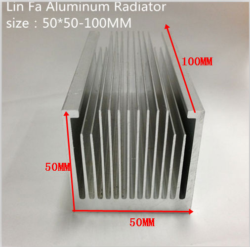 5PCS LED heat sink/Aluminum heat sink/IC heat sink/50*50-100/Fine-toothed fin/Designed with a small heat sink fan(China (Mainland))