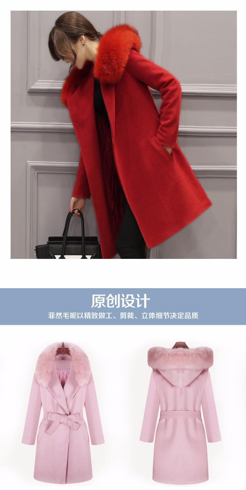Europe United States Autumn/winter 2016New Female Temperament Wool Coat Fashion Big Yards Cultivate One's Morality  Jacket Coat